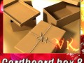 Photorealistic Cardboard Box  Rope High Res