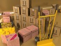 Hand Truck  Cartons High Res - 3D Model c4d max obj fbx ma lwo 3ds 3dm stl