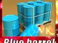 Blue barrel Pallet High resolution textures