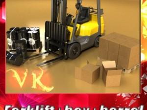 Lift Truck Pallet Cartons  Metal Drums