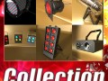 Realistic Stage Lights Collection 6 Items