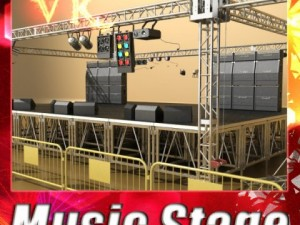 3D Model Stage Equipment Mega Pack High Detail
