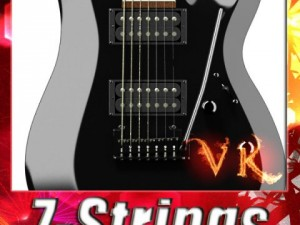 Electric Guitar 7 Strings High Detail