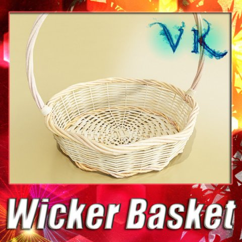 Wicker Basket 3D Model