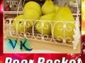 Pears in Metal Basket