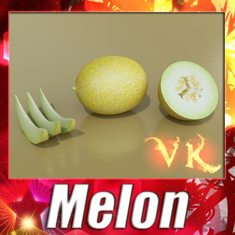 Melon High Res Textures 3D Model