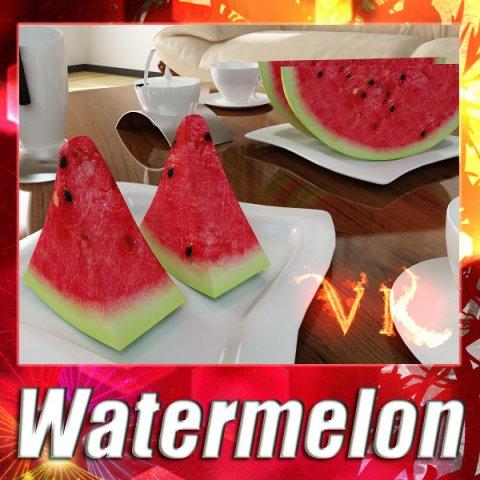 Watermelon High Res Textures 3D Model