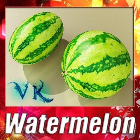 Watermelon High Res Texture 3D Model