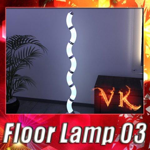 Modern Floor Lamp 03 3D Model