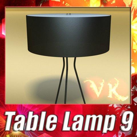 Modern Table Lamp 09 Tesla Estiluz 3D Model