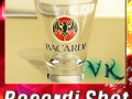 Photoreal Bacardi Rum Shot Glass