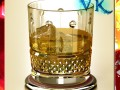 High Detailed Whisky Cut Glass and Chivas Coaster