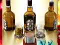 Chivas Regal Bottle Glass and Coaster Collection