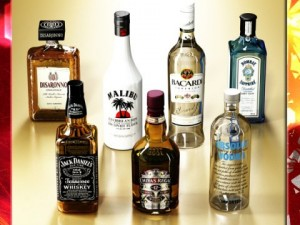 Photorealistic and High Detailed 7 Liquor Bottles