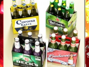 Beers cardboard pack collection
