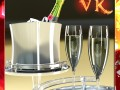 Champagne Set  Bottle Flute and Ice Bucket