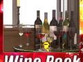 6 Wine Bottles and 6 Wine Glasses