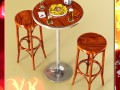 Bar Table Stool Becks Beers Nacho Plate And Napkins Dispenser