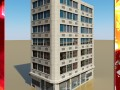 Photorealistic Low Poly Office Building 10