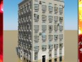 Multi Story Building Photorealistic Low Poly
