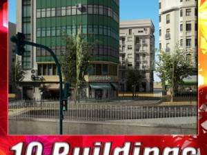 3D Models Building Collection 3 buildings 21  30