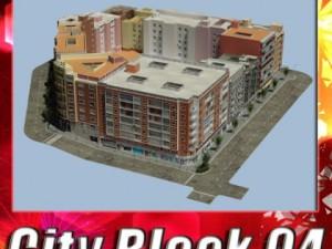 3D Models City Block 04