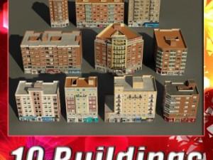 3D Models Building Collection 7180