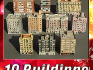 3D Models Building Collection 81  90
