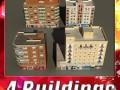3D Models Building Collection 73  76