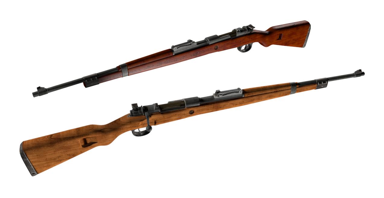 Mauser K98 3D Model in Assault Rifles 3DExport