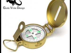 Professional brass compass