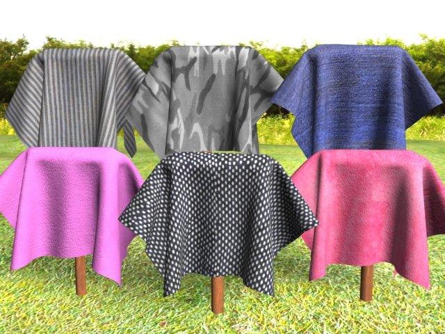 Cloth 6Pack 3 3D Model