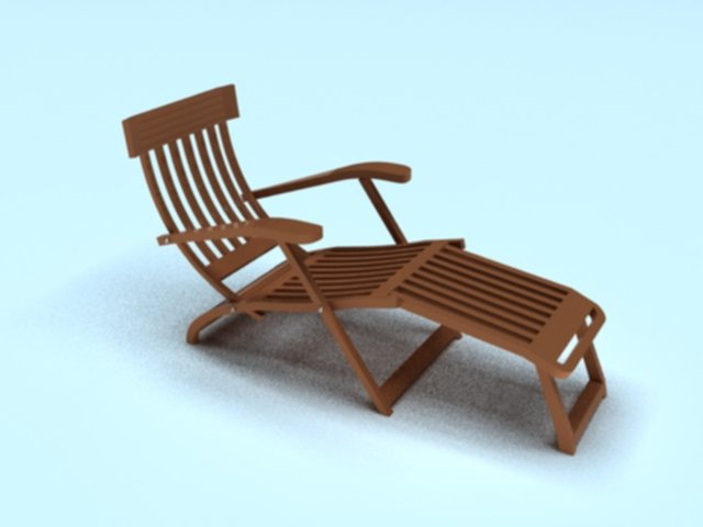Steamer Deck Chair 3D Model