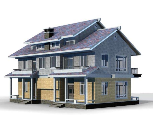 Villa 058 3D Model