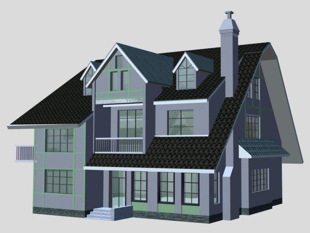 Villa 077 3D Model
