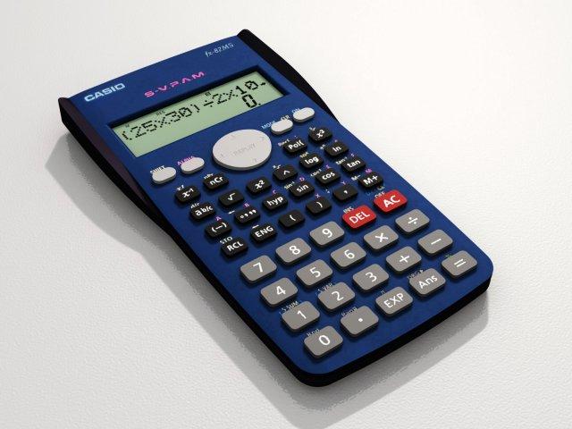 Casio Scientific Calculator Model fx82MS 3D Model