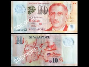 Currency in Singapore Textures