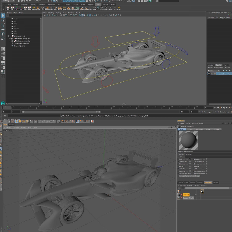 Formula 2018 3D Model in Racing 3DExport