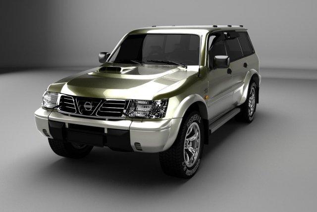 Nissan Patrol GR Y61 3D Model