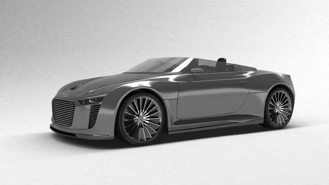 Audi E Tron Spyder 2011 3D Model