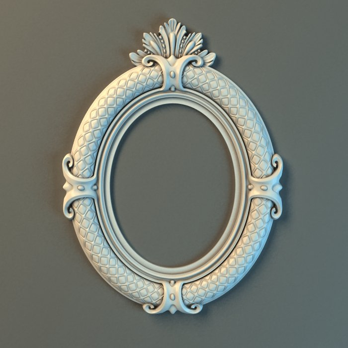 a51cc71ced8 Oval Frame Ornate 3D Model in Decoration 3DExport