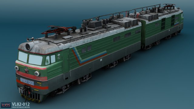 VL82 012 russian electric locomotive 3D Model