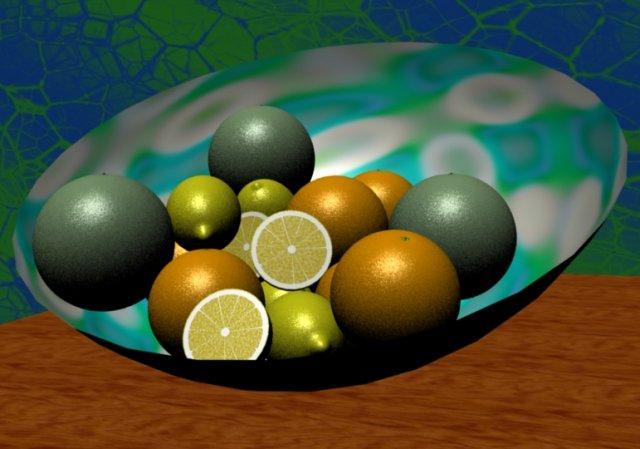Few kinds of fruits 3D Model