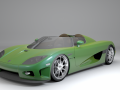 Koenigsegg CCX convertable 3D Model