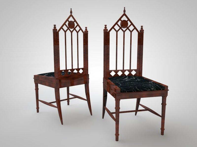 Gothic chair 3D Model & Gothic chair 3D Model in Chair 3DExport