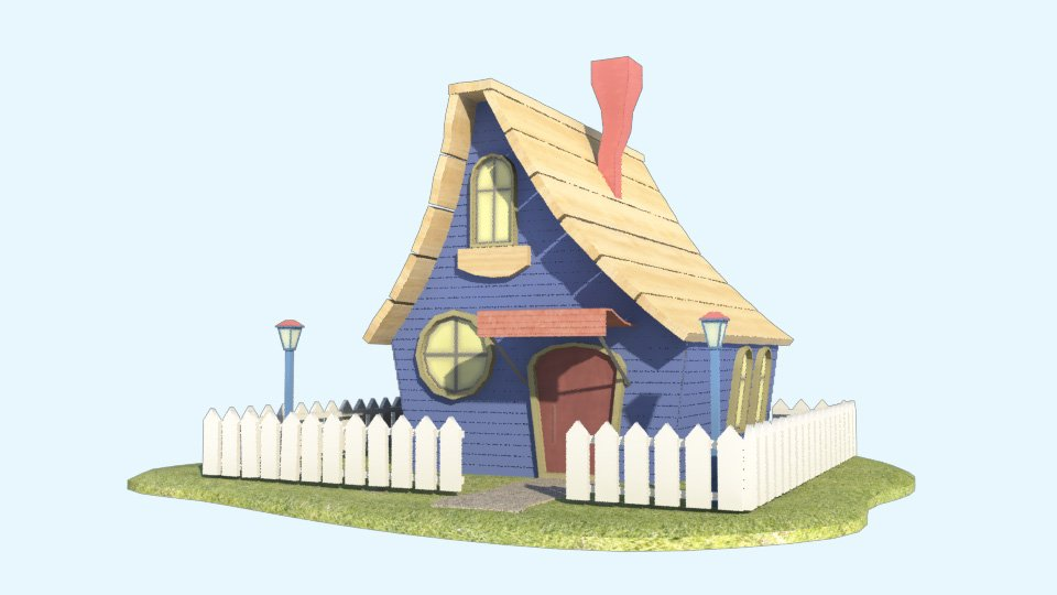 cartoon house 3d model in fantasy 3dexport - 3d Model Home