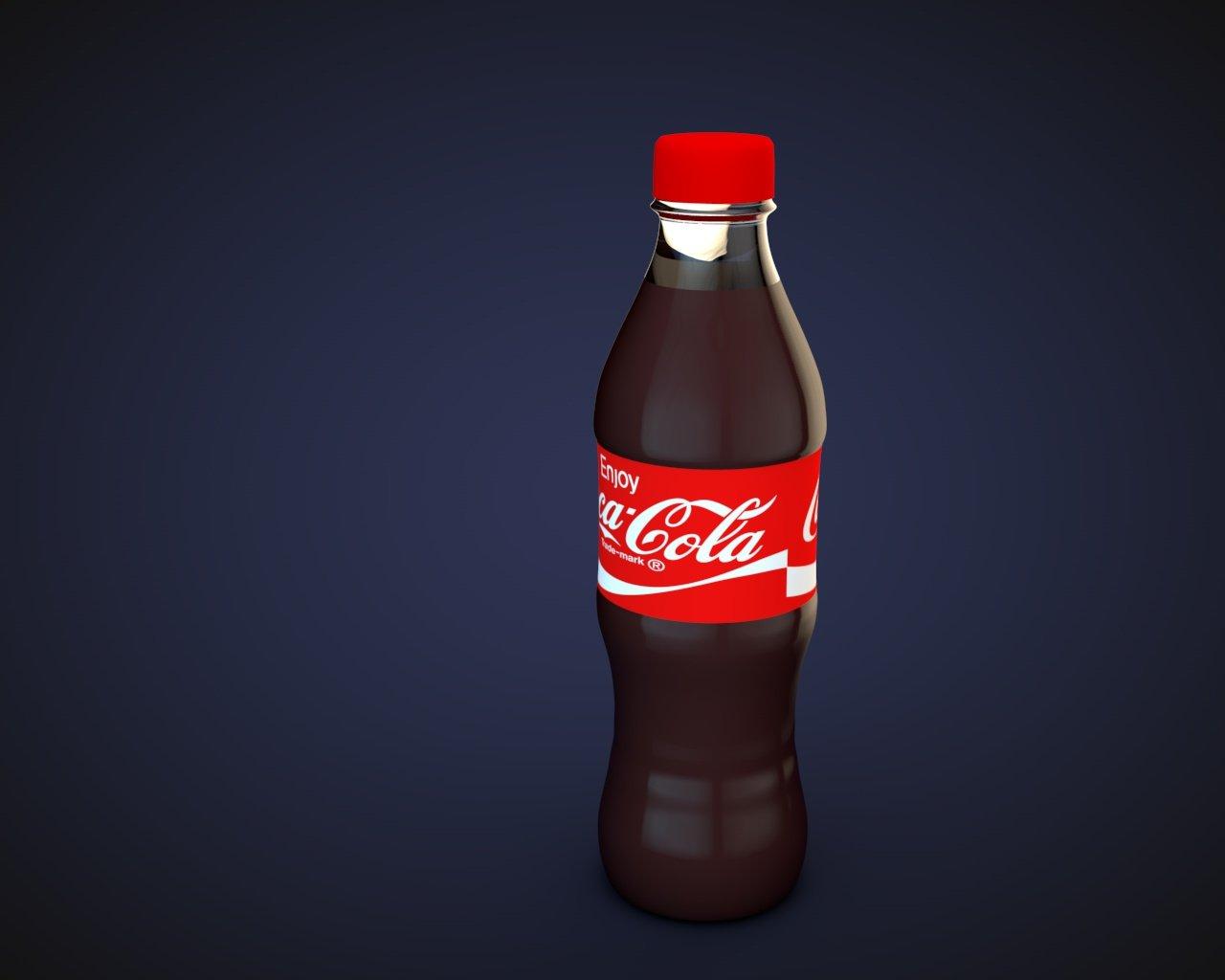 coca cola bottle 3d model free