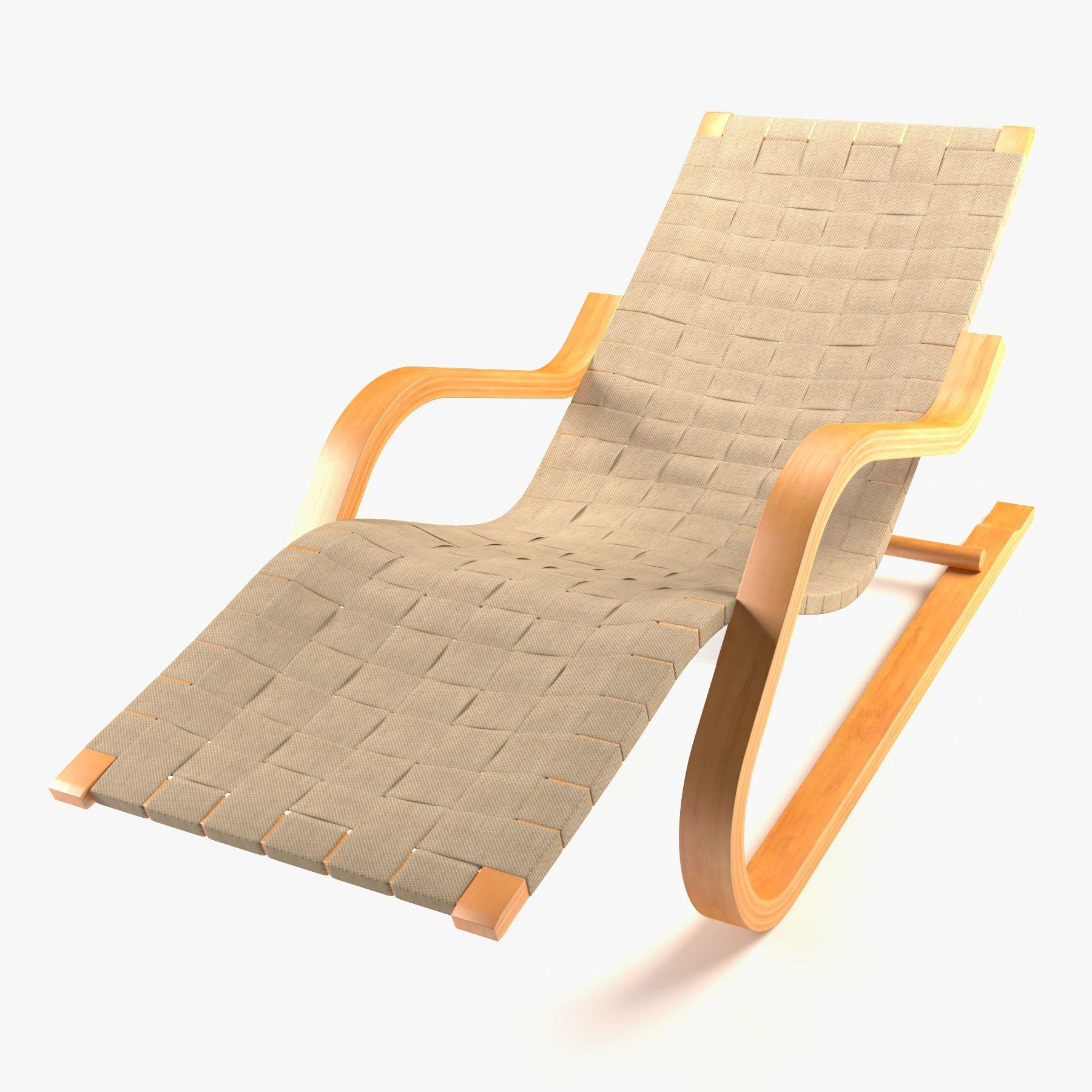 Alvar Aalto Lounge Chair 3D Model