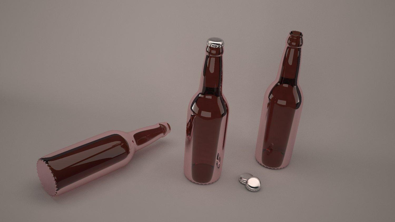 Beer bottles Free 3D Model in Beverage 3DExport