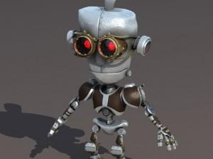 Cartoon Robot Riged